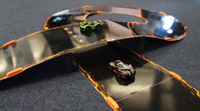App-Powered Battling Robotic Race Cars