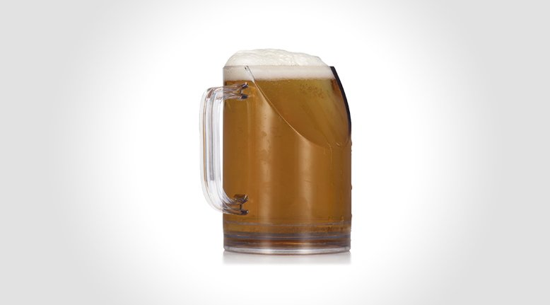 Slanted Beer Mug for Optimum TV Viewing
