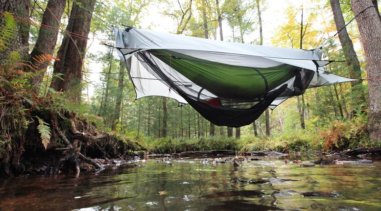 Modular Hammock Shelter That Gives Layers of Protection