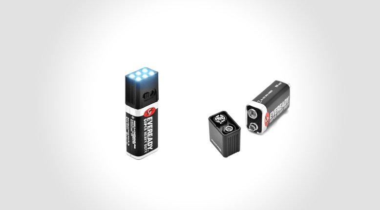 9v Flashlight Battery Torch
