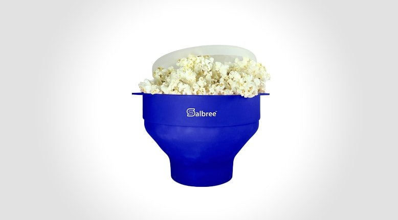 Collapsable Microwave Popcorn Popper (Cooks Every Kernal)