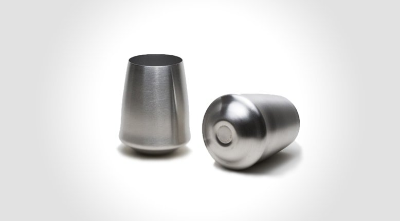 Outdoor Stainless and Stemless Wine Glasses