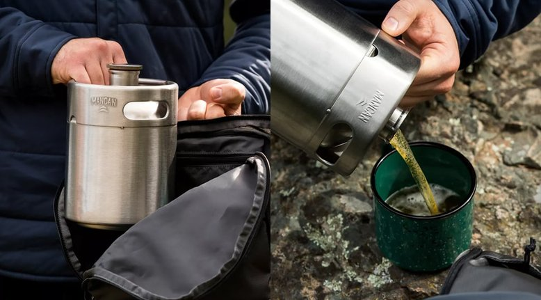 ManCan Grab 'N Go Beer Growler