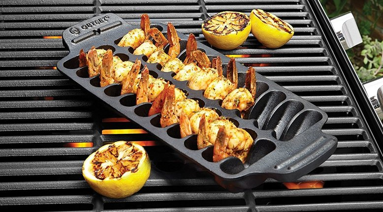 Shrimp Cast Iron Grill Pan