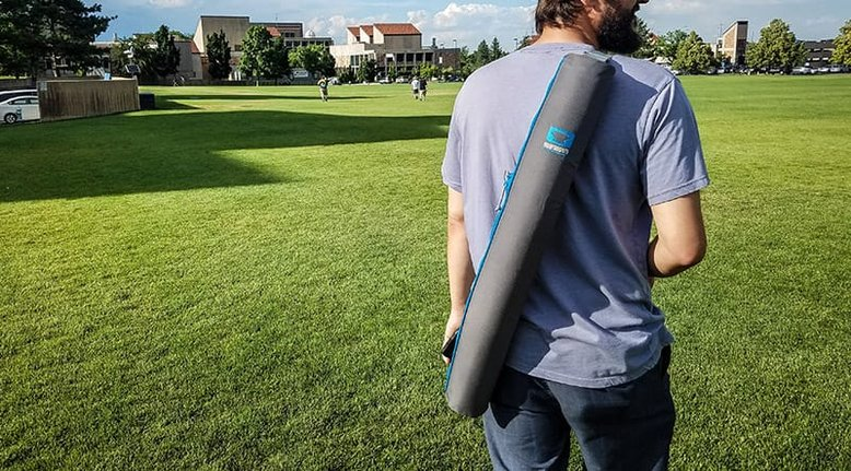Beer Cooler That Looks Like a Yoga Mat Carrier