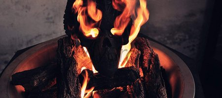 Demon Head For the Fire Pit