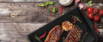MasterPan Double-Sided Grill Griddle