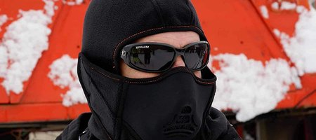 Winter Ski Mask with Heat Exchanger