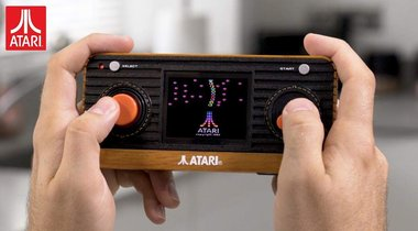 Wood-Paneled Atari Handheld Console
